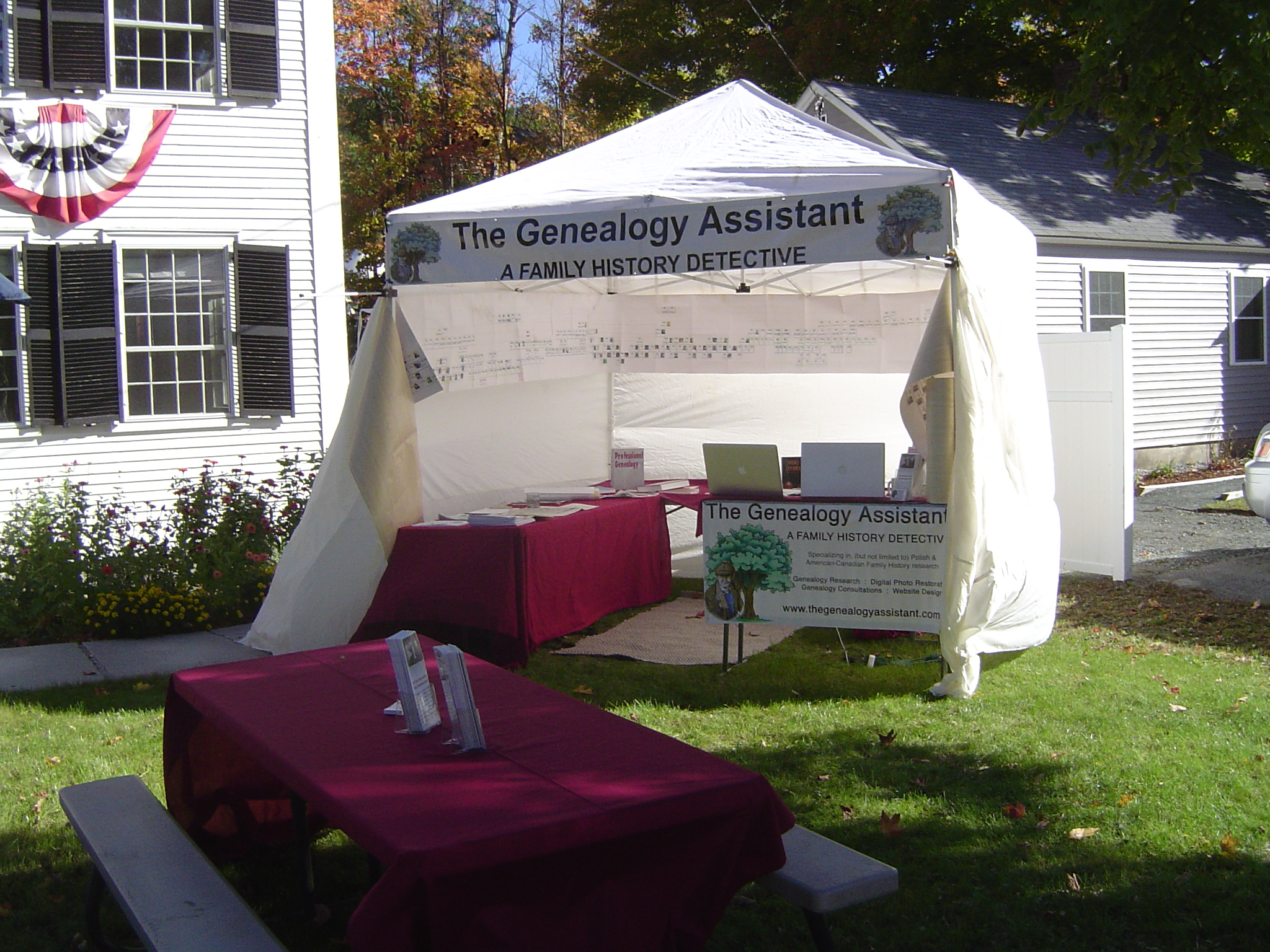 The Genealogy Assistant at the Warner Fall Foliage Festival